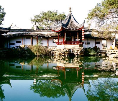 Unesco-welterbe - die suzhou gärten südwestlich von schanghai