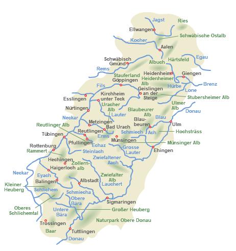 Karte Schwäbische Alb