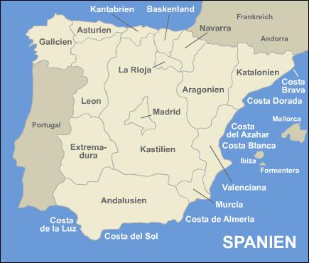 spanien karte küsten Küste Spanien Karte | hanzeontwerpfabriek